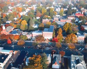 aerial view of main street in 1998