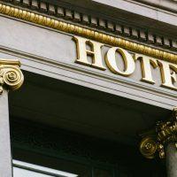 luxury hotel facade