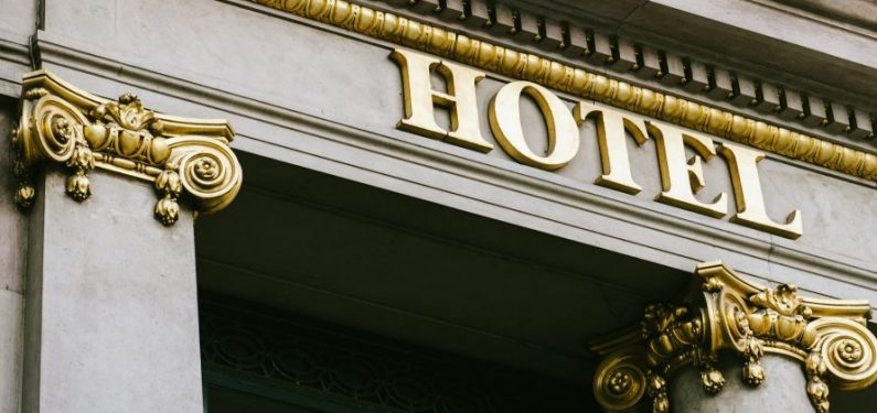 luxury hotel facade