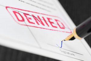 denied stamp on document