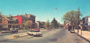 vintage look of main street of Manheim