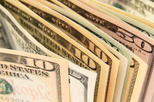 money - bills of varying amounts