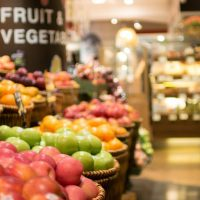 fruits and vegetables in a gocery store