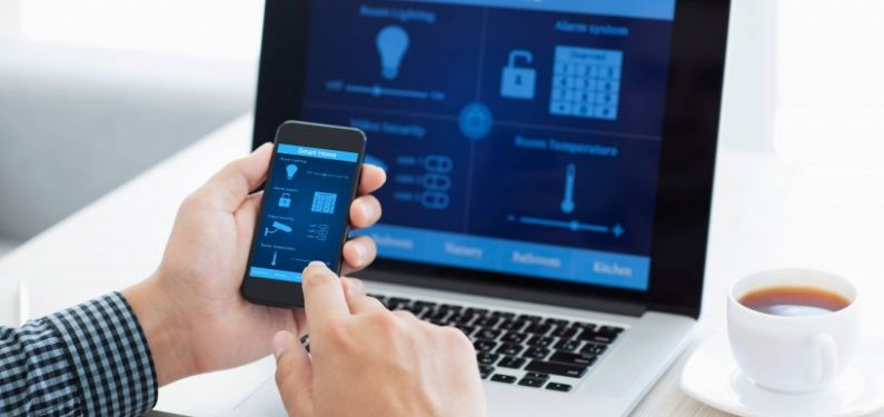 home monitoring system on mobile phone and laptop